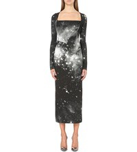 Anglomania Liz Constellation Print Dress Nebula Print