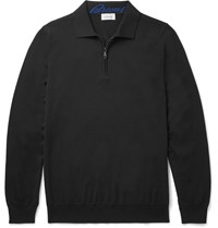 Brioni Wool Polo Shirt Black