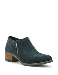 Blondo Malaya Suede Booties Grey