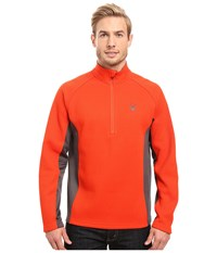 Spyder Outbound Half Zip Mid Weight Core Sweater Rage Polar Rage Men's Long Sleeve Pullover Orange