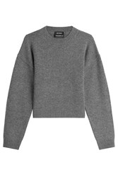 Anthony Vaccarello Wool Pullover Grey