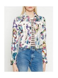 Just Cavalli Printed Denim Jacket Multicolour
