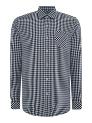 Peter Werth Trade Gingham Slim Fit Long Sleeve Button Down Sh Sky