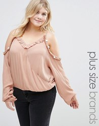 Alice And You Cold Shoulder Coin Detail Top Pink