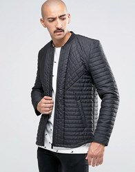 Only And Sons Quilted Bomber Jacket Black