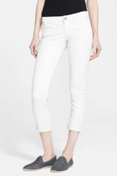 Habitual 'Aaron' Rolled Crop Jeans White