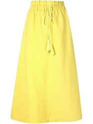 A Piece Apart Drawstring A Line Skirt Yellow And Orange