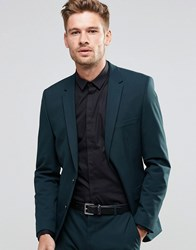 Selected Homme Suit Jacket In Slim Fit With Stretch Bottle Green