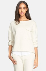 Atm Anthony Thomas Melillo Brushed French Terry Sweatshirt Natural