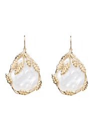 Aurelie Bidermann Francoise Mother Of Pearl And Gold Plated Earrings