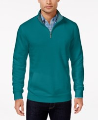 Club Room Men's Big And Tall Quarter Zip Sweater Only At Macy's Blue Cruise