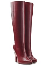 Sonia Rykiel Leather Knee Boots Red