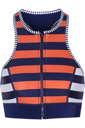 Duskii Saint Tropez Racer Back Striped Neoprene Bikini Top