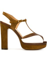 L'autre Chose Platform Sandals Brown