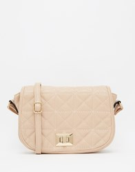 Liquorish Quilted Saddle Bag Cream