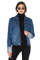 Edit Turn Up Sleeve Jacket Dark Wash