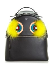 Fendi Leather And Fur Backpack Black Multi