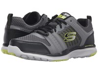 Skechers Quick Shift Tr Charcoal Lime Men's Lace Up Casual Shoes Green