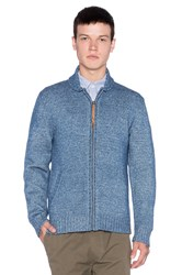 Obey New West Zip Sweater Blue