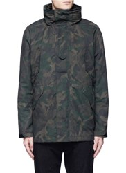 Rag And Bone 'Ezra' Camouflage Print Detachable Liner Parka Green