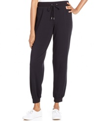 Style And Co. Sport Knit Jogger Pants Only At Macy's Deep Black