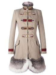 Ermanno Scervino Military Coat Nude Neutrals