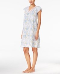 Charter Club Cap Sleeve Nightgown Only At Macy's Ivory Botanical