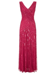 Ariella Juliet Sequin Long Dress Red