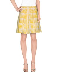 Clips More Skirts Knee Length Skirts Women Yellow
