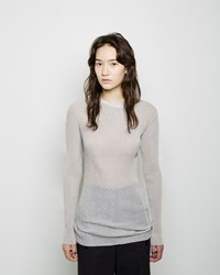 3.1 Phillip Lim Metallic Plisse Top Silver And Sandstone