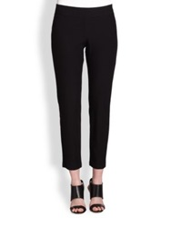 Eileen Fisher Slim Ankle Pants White Black