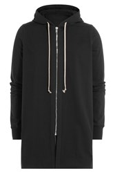 Rick Owens Men Cotton Oversized Hoodie Black