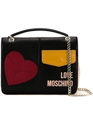 Love Moschino Medium Patches Shoulder Bag Black