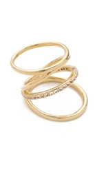 Elizabeth And James Mondrian Pave Ring Gold