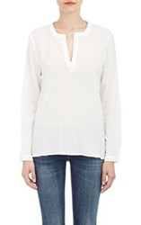 Barneys New York Voile Trapeze Top White