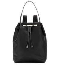 The Row Backpack 11 Leather Trimmed Backpack Black