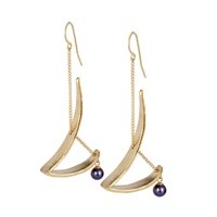 Chandally Mobilia Earrings 18K Vermeil And Peacock Pearls