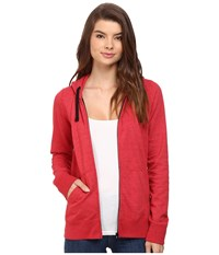 Hurley Solid Icon Zip Fleece Heather Gym Red Women's Sweatshirt