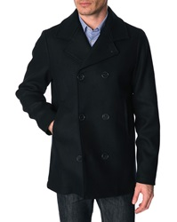 Menlook Label Lee Navy Pea Coat