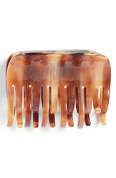 France Luxe Large Double Tooth Jaw Clip Beige Caramel Horn