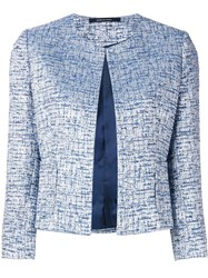 Tagliatore Tweed Jacket Blue