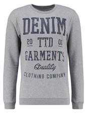 Tom Tailor Denim Basic Fit Sweatshirt Heather Grey Melange Mottled Grey