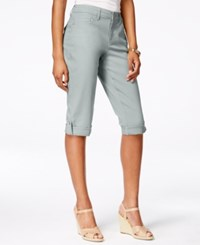 Styleandco. Style And Co. Cuffed Skimmer Jeans New City Silver