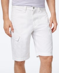 Inc International Concepts Men's Jorge Cargo Shorts Only At Macy's White Pure