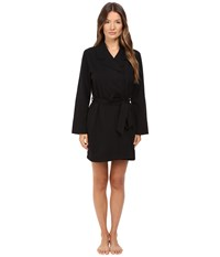 Kate Spade Brushed French Terry Robe Black Good Morning Gorgeous Women's Robe