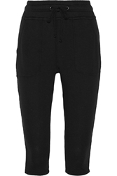 James Perse Cropped Supima Cotton Terry Track Pants