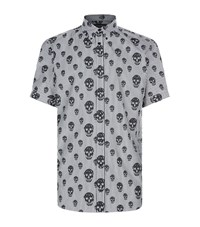 Alexander Mcqueen Skull Stripe Shirt Male Black