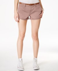 American Rag Cuffed Belted Colored Denim Shorts Only At Macy's Pale Mauve