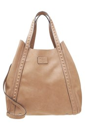 Pepe Jeans Anuska Tote Bag Taupe Grey Light Brown