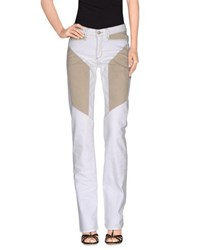 9.2 By Carlo Chionna Denim Denim Trousers Women White